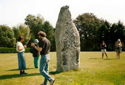 Dowsing at the Gwallon stone in St.Austell (2004)